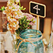 Rustic Mason Jar Centerpiece with Table Number